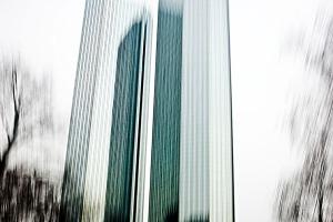 Frankfurt im Vorbeifahren